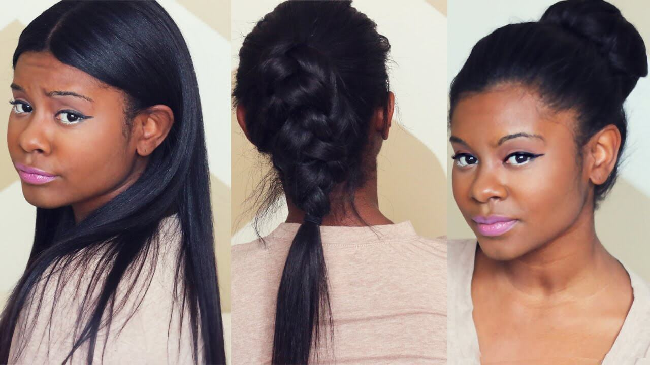 SLEEK FALL HAIRSTYLES with CLIP IN EXTENSIONS | Better Length Light Yaki Clip Ins